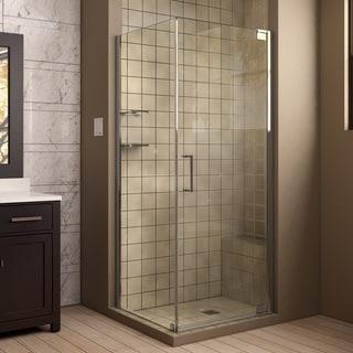 DreamLine Elegance 30 in. by 34 in. Frameless Pivot Shower Enclosure