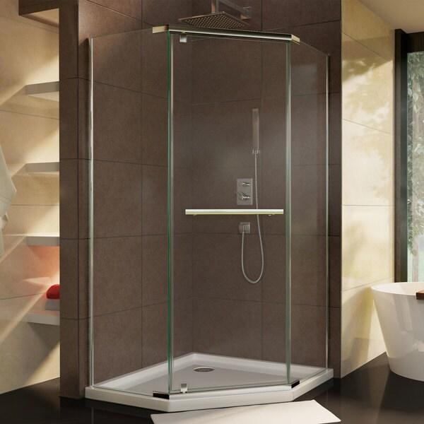 Shop DreamLine Prism 36 1/8 in. by 36 1/8 in. Frameless Pivot Shower ...