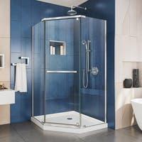DreamLine Prism 36 1/8 in. by 36 1/8 in. Frameless Pivot Shower Enclosure