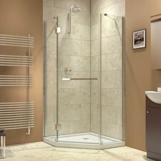 DreamLine Prism-X 34.375 x 34.375-inch Frameless Hinged Shower Enclosure