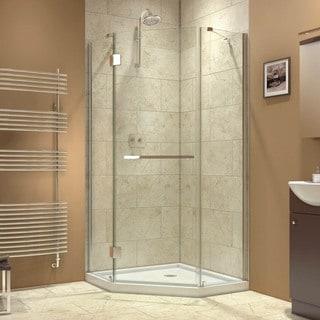 DreamLine Prism-X 34.375 x 34.375-inch Frameless Hinged Shower Enclosure