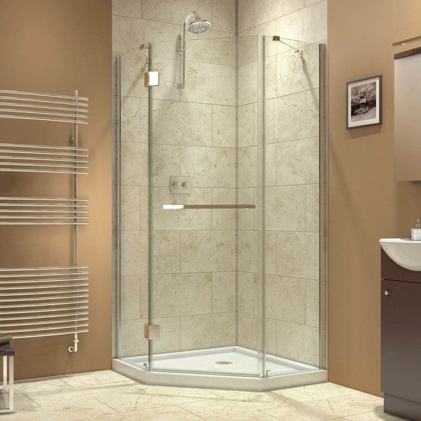 DreamLine Prism-X 40-3/8 x 40-3/8 Frameless Hinged Shower Enclosure
