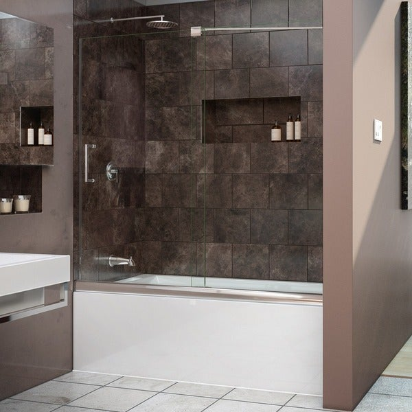 Frameless Sliding Tub Door 56 To 60
