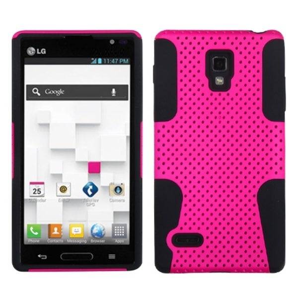 INSTEN Hot Pink/ Black Astronoot Phone Case Cover for LG Optimus L9 P769