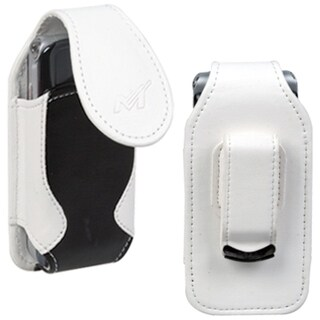 INSTEN Black/ White Vertical Pouch for Sony Ericsson W350/ W350i