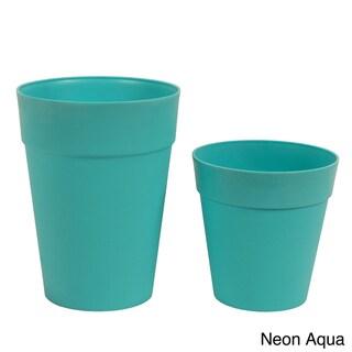 Neon Plastic Garden Pots (Set of 2)