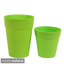 Neon Plastic Garden Pots (Set of 2)