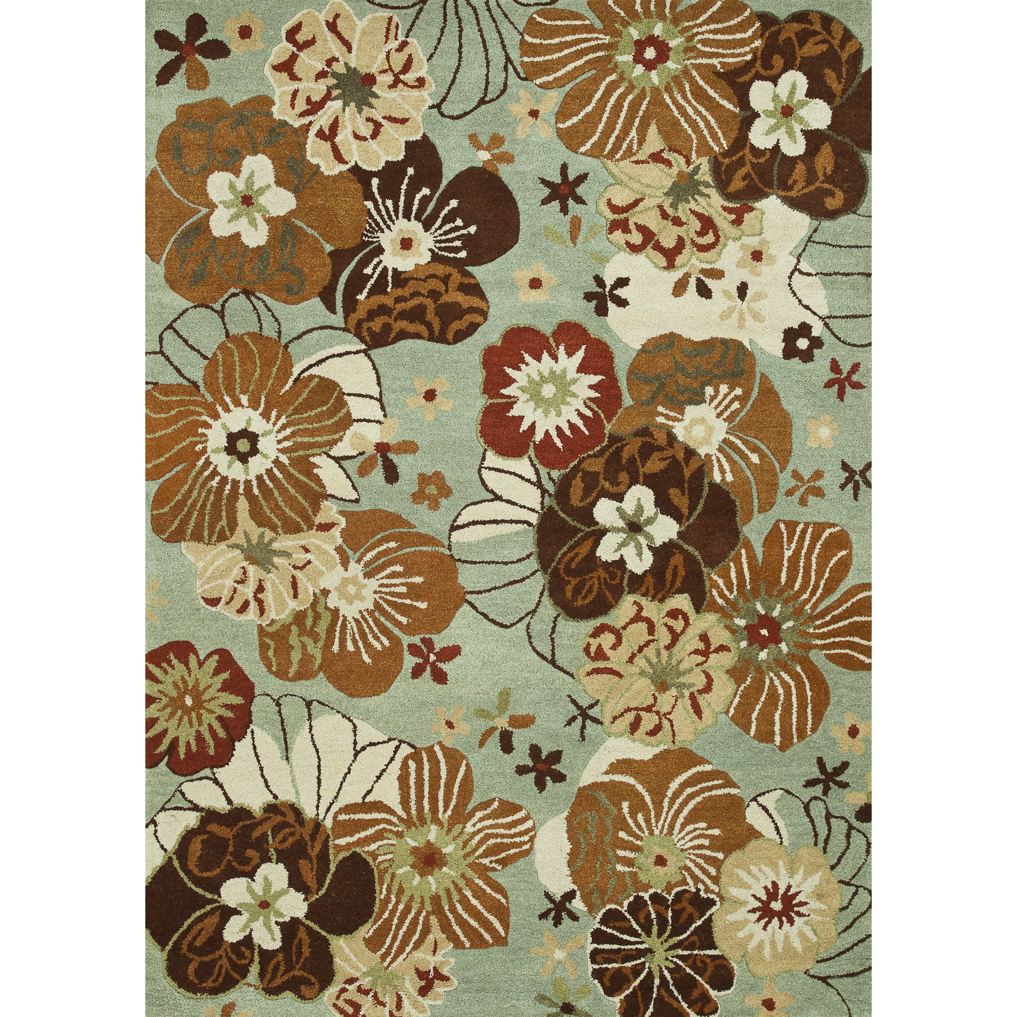 Hand Tufted Leighton Blue Wool Rug Overstock 7990367