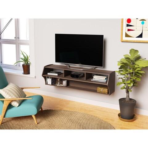 "Everett Altus Plus Espresso 58-inch Floating TV Stand - 16.75""h x 58.25""l x 16""d"