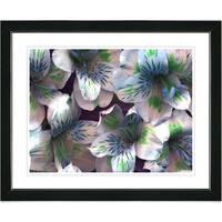 Studio Works Modern Studio Works Modern 'Spring Flowers - Blue' Framed Print