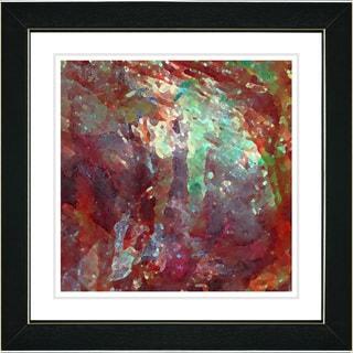 Studio Works Modern 'Rushing Poem - Cherry Red' Framed Print