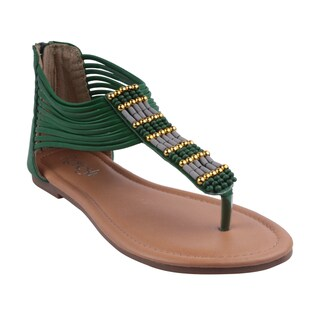 Refresh by Beston Women's 'MADDY-02' Flat Gladiator Sandals