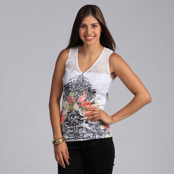 Tabeez Women's One-size Lace Print Seamless Tank