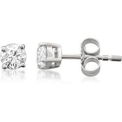 Montebello 14k White Gold 3/8 to 3/4ct TDW Certified Diamond Stud Earrings (I-J, I1-I2)