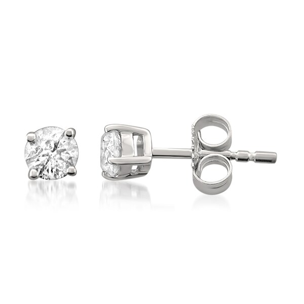 32b717eb32381 Shop Montebello 14KT White Gold 3/4ct TDW Certified Diamond Stud ...