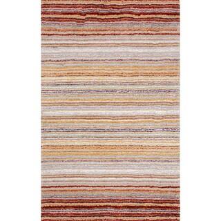 Havenside Home Siesta Handmade Striped Plush Shag Rug - 6' x 9'