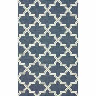 nuLOOM Handmade Flatweave Marrakesh Lattice Wool Rug (5' x 8')