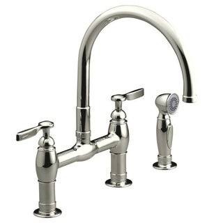 Kohler Parq Deck Mount Kitchen Faucets and Spray
