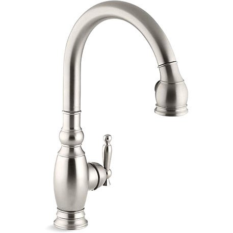 Kohler Vinnata Kitchen Sink Faucet Stainless Steel Finish Overstock 7990874