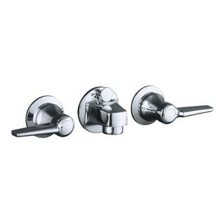 Kohler Triton Shelf-back Lavatory Faucet with Pop-up Drain and Lever Handles