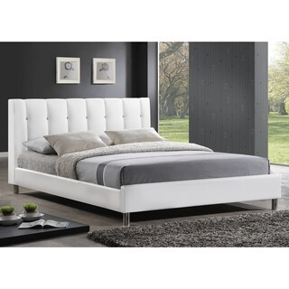 Clay Alder Home Mildred Modern White Upholstered Faux Leather Full-size Bed (2 options available)
