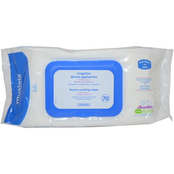 Mustela Dermo Soothing Wipes (70 count)