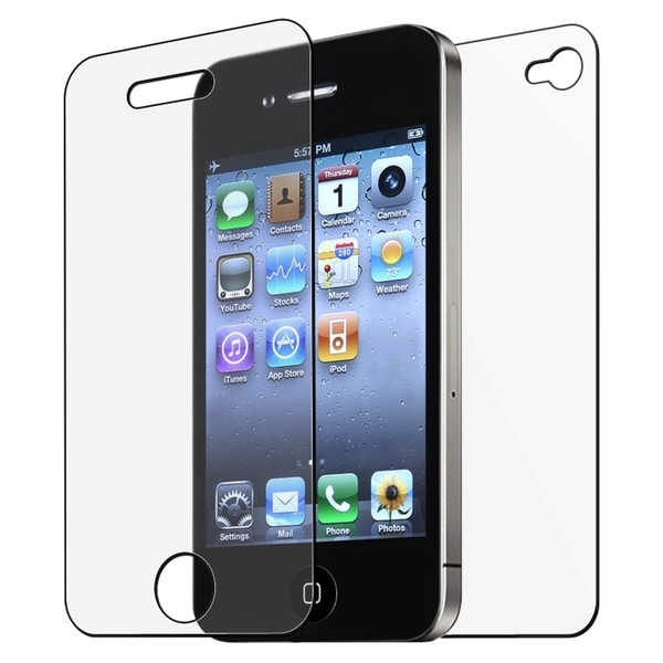 INSTEN Anti-glare/ Clear Screen Protectors for Apple iPhone 4/ 4S (Pack of 6)