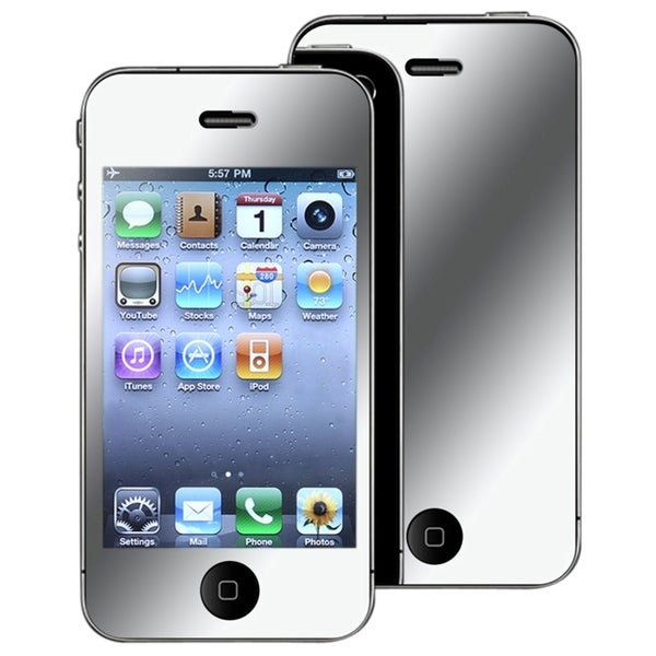 INSTEN Mirror Screen Protector for Apple iPhone 4/ 4S (Pack of 3)