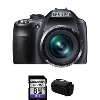 Fujifilm FinePix SL310 14MP Black Digital Camera 8GB Bundle