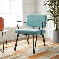 Shop Aqua Armless Tufted Back Chair Free Shipping Today