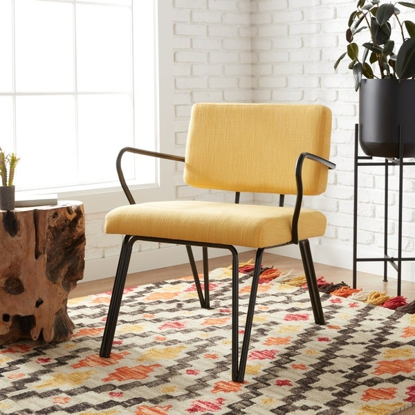 Carson Carrington Palm Springs Yellow Upholstery Accent Chair. Opens flyout.