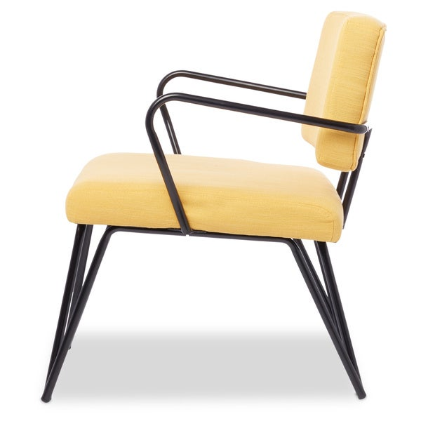 Palm Springs Yellow Upholstery Accent Chair   Free Shipping Today    Overstock.com   15358818