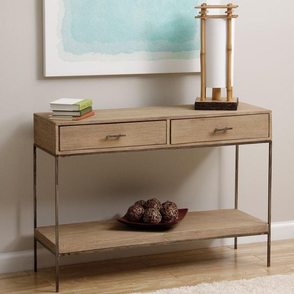 Shop Handmade Single Shelf 2 Drawer Console Table India