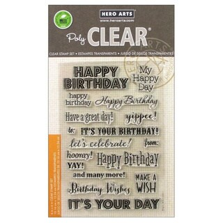 Hero Arts Clear Stamps 4x6 Sheet-It's Your Day