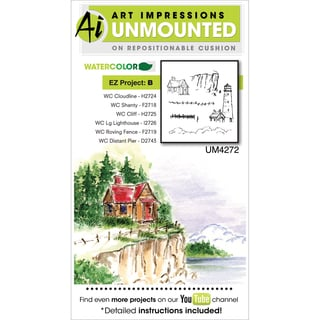 Art Impressions Watercolor Cling Rubber Stamp-Project B