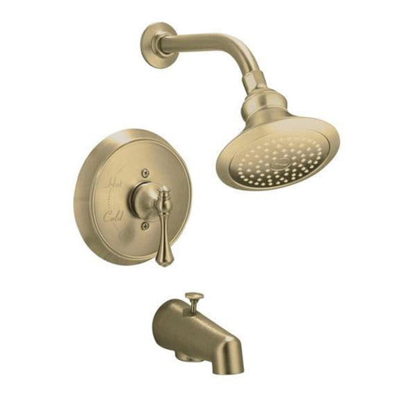 Kohler Revival Rite-Temp Pressure-balancing Bath and Shower Faucet Trim with Traditional Lever Handle