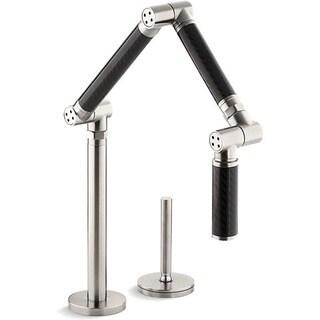 Kohler Karbon Steel/ Black Articulating Kitchen Faucet