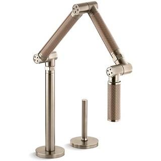 Kohler Karbon Bronze Deck-mount Articulating Kitchen Faucet