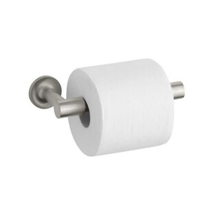 Kohler Purist Brushed Nickel Pivoting Toilet Tissue Holder