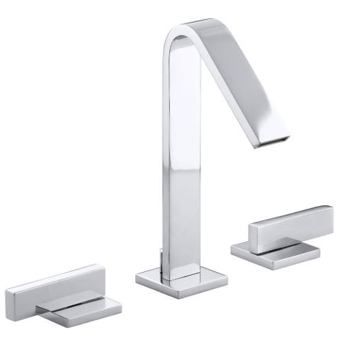 Kohler Loure Vibrant Polished Nickel Widespread Bathroom Sink Faucet