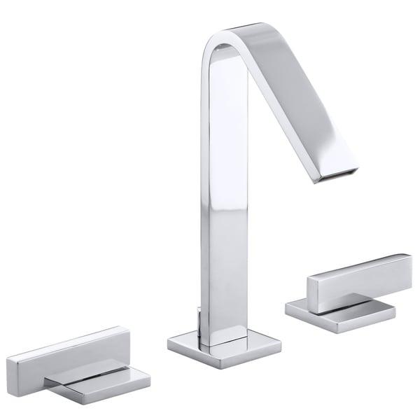 Shop Kohler Loure Chrome Widespread Lavatory Faucet - Free Shipping ...