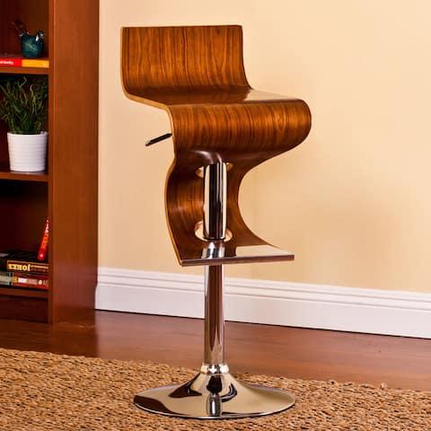 Carson Carrington Solvesborg Walnut Adjustable Retro Bar Stool