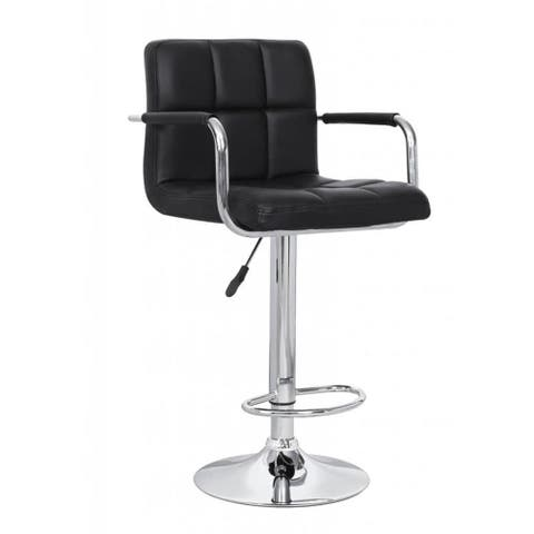 Black Adjustable Retro Bar Stool