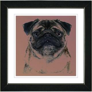 Studio Works Modern 'Pug Dog' Framed Print