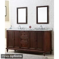 Direct. Vanity Sink 70-inch Classic Dark Brown Double Vanity Cabinet