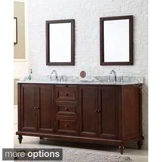 Direct. Vanity Sink 70-inch Classic Dark Brown Double Vanity Cabinet