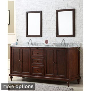 Charmant Vanity Sink 70 Inch Classic Dark Brown Double Vanity Cabinet