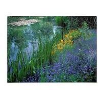 Kathy Yates 'Monet's Lily Pond' Canvas Art - Multi