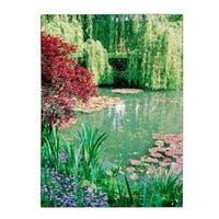 Kathy Yates 'Monet's Lily Pond 2' Canvas Art - Multi