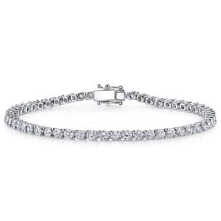 18k White Gold 3ct TDW Diamond Tennis Bracelet